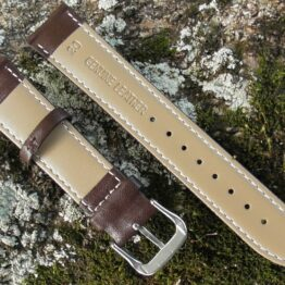 warana soft calf leather strap showing genuine leather stamp