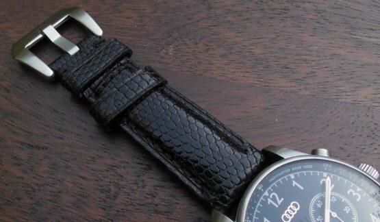 beerwah lizard leather on Audi watch