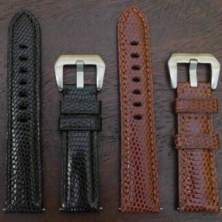 genuine lizard leather watch straps
