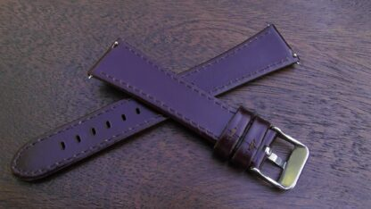 marcoola brown leather high gloss watch strap