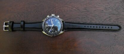 marcoola leather watch strap featured on omega speedmaster moon watch