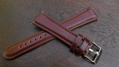 marcoola tan leather high gloss watch band for sale in australia