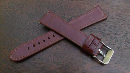 marcoola tan leather watch band rear