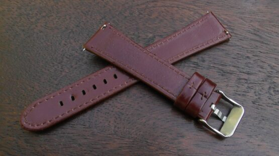 marcoola tan leather watch band rear