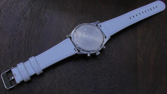 Marcool white leather quick release watch strap