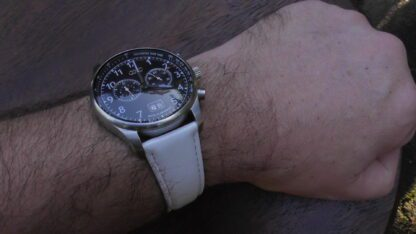 Marcool leather watch strap with 42mm Audi watch
