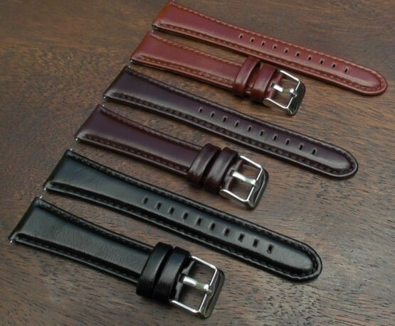 marcoola range of gloss leather watch straps