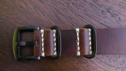 Tanawha Brown leather nato black buckle