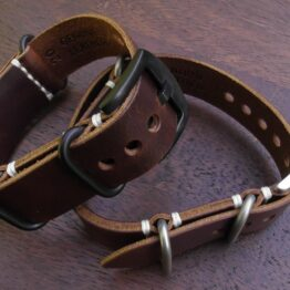 tanawha australia leather nato strap brown