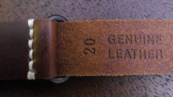 Tanawha leather nato strap black buckle