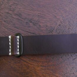 tanahwa nato dark brown leather black buckles