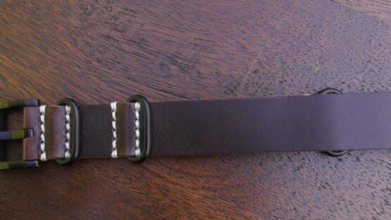 tanahwa nato dark brown leather black buckles