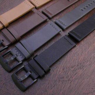 valdora range of genuine leather watch straps showing all colours