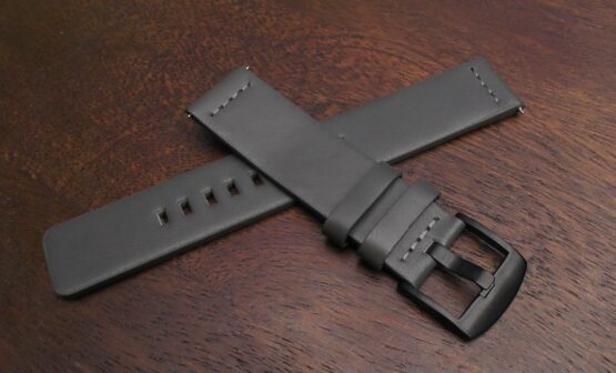 valdora leather strap grey