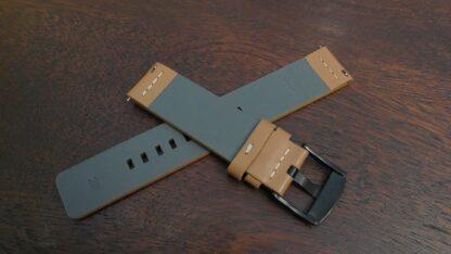 valdora tan leather watch band rear