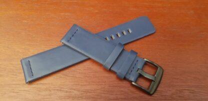valdora blue modern leather watch strap