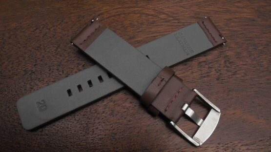 rear of valdora brown leather watch strap for sale in australia