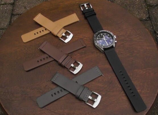 valdora range of leather straps watch display