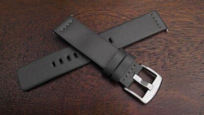 valdora grey leather strap
