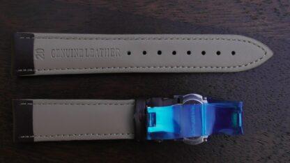 warana brown deployant leather watch strap