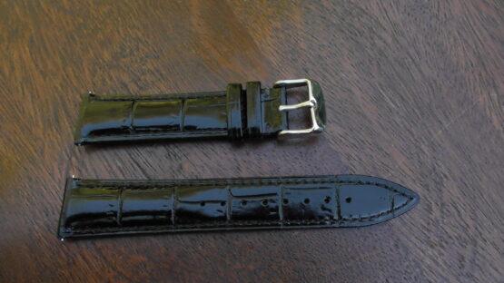 kenilworth black leather band 20mm