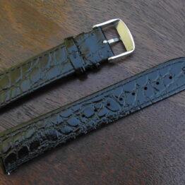 Kenilworth black leather 22mm watch strap
