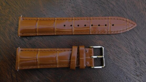 kenilworth tan colour leather watch band