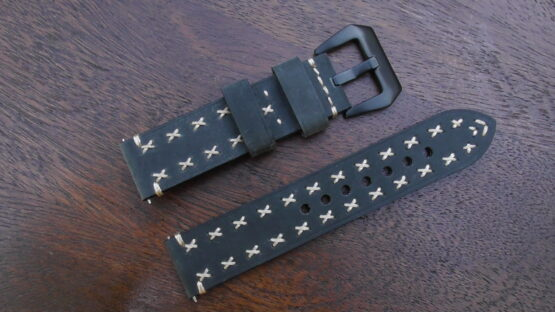 winton green leather watch band
