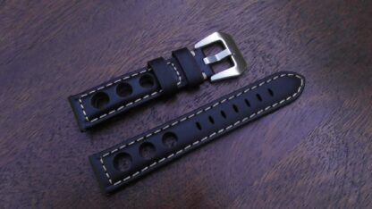 conondale rally leather strap with silver buckle