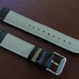 'Eumundi' Vegan Leather Strap Black Angled