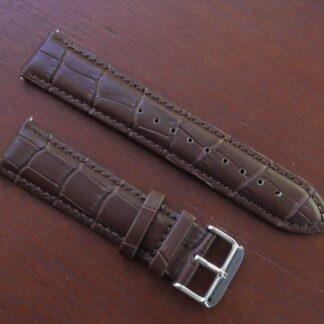 'Eumundi' Vegan Leather Strap Brown Angled