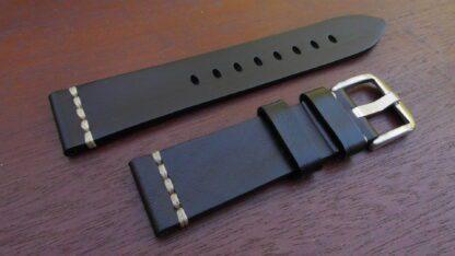 Kiamba black leather strap