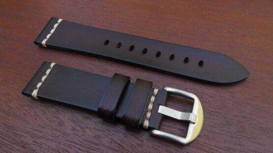 kiamba brown italian calf leather watch band