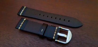 kiamba brown leather band rear