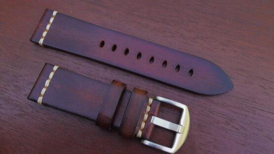 kiamba light brown italian calf leather strap