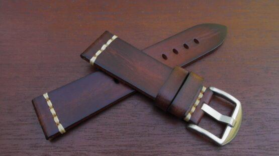 kiamba light brown calf leather strap