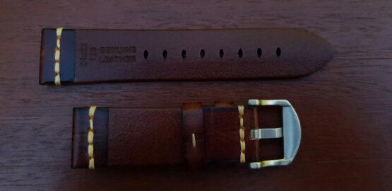 kiamba light brown strap showing rear branding