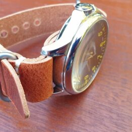 tanawha leather nato dark tan on seagull watch