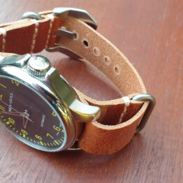 leather nato on seagull watch