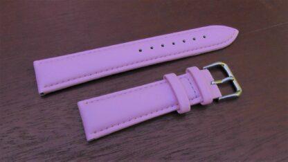 warana pink leather watch band