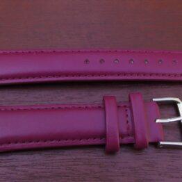 warana purple colour leather watch strap
