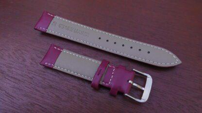 warana purple leather watch strap
