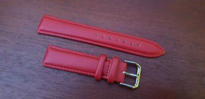 warana red leather watch band