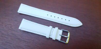 warana white leather watch band