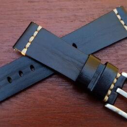 black italian calf leather wrapped watch band australia