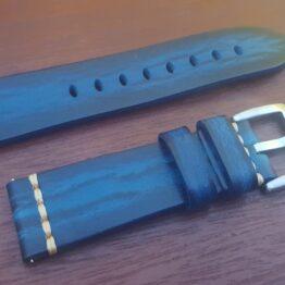 flaxton au blue calf leather watch strap