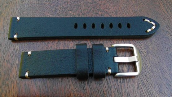 ninderry top grain leather watch strap stainless steel buckle