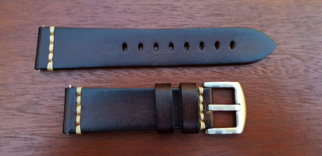brown italian calf leather watch band