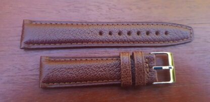 goatskin leather watch strap brown