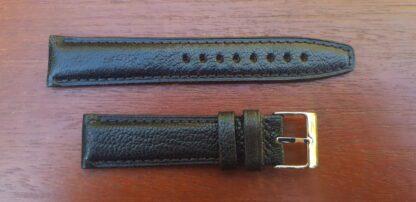 black goat skin leather watch strap